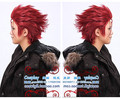 HOT HEAT Reatil High quality Anime K Project  handsongme red  Suoh Mikoto Synthetic Hair Cosplay Wig free shipping+caps