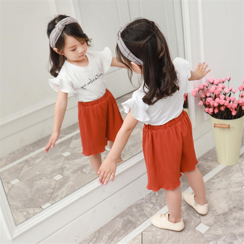 Zomer meisjes kleding sets nieuwe mode katoenen witte t-shirts + - Kinderkleding - Foto 4
