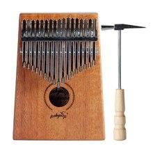 Akustický prst Thumb klavír Mahogany Kalimba Professional 17 klíčů Hudba dárek Ocean Blue And Natural