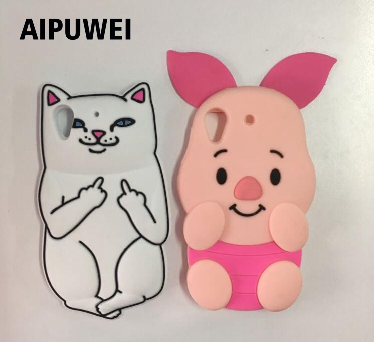 AIPUWEI 3D Cartoon cute white cat pig soft silicon cover <font><b>case</b></font> For HTC Desire 626 626G Silicone <font><b>Cell</b></font> <font><b>Phone</b></font> <font><b>Cases</b></font> coque funda capa