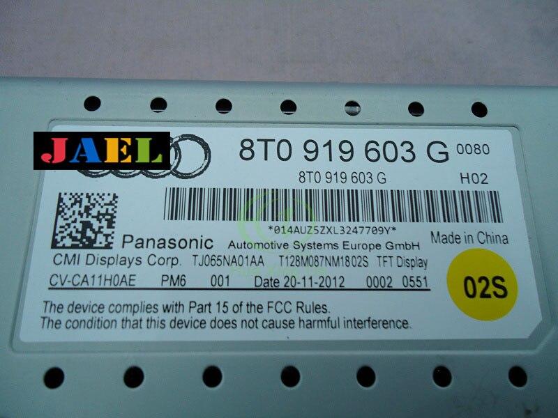 オリジナル tft ディスプレイ 8T0 919 603 グラム 8T0919603G ミニディスプレイ画面アウディ A4 A5 Q5 ナビゲーション表示画面