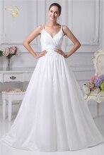 Jeanne Love New Arrival Wedding Dresses 2018 Taffeta Spaghetti Straps Sweetheart Beading Bridal Gown Robe De Mariage JLOV75945