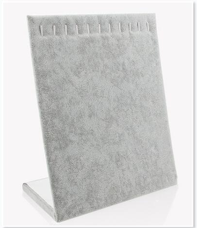 Grey Velvet 10 Hook Necklace Organizer/Tray/Pad /Showcase/ Display Case