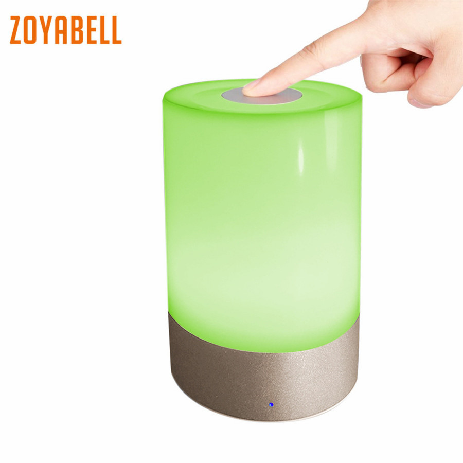 zoyabell Led Night Light Touch Panel Colorful Rechargeable Battery Table Portable Lamp Baby Kids Bedroom Reading Sleeping Light