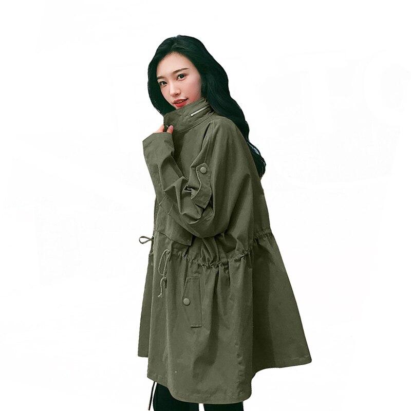 2019 New Arrival Spring Women's Windbreaker Fashion Large Size Loose   Trench   Coat Women Oversized Long Coats Feminino