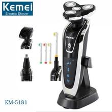 Kemei 4 In 1 Men s 4D Rechargeable Shaving Machine Electric Shaver Hair Trimmer Clipper Beard