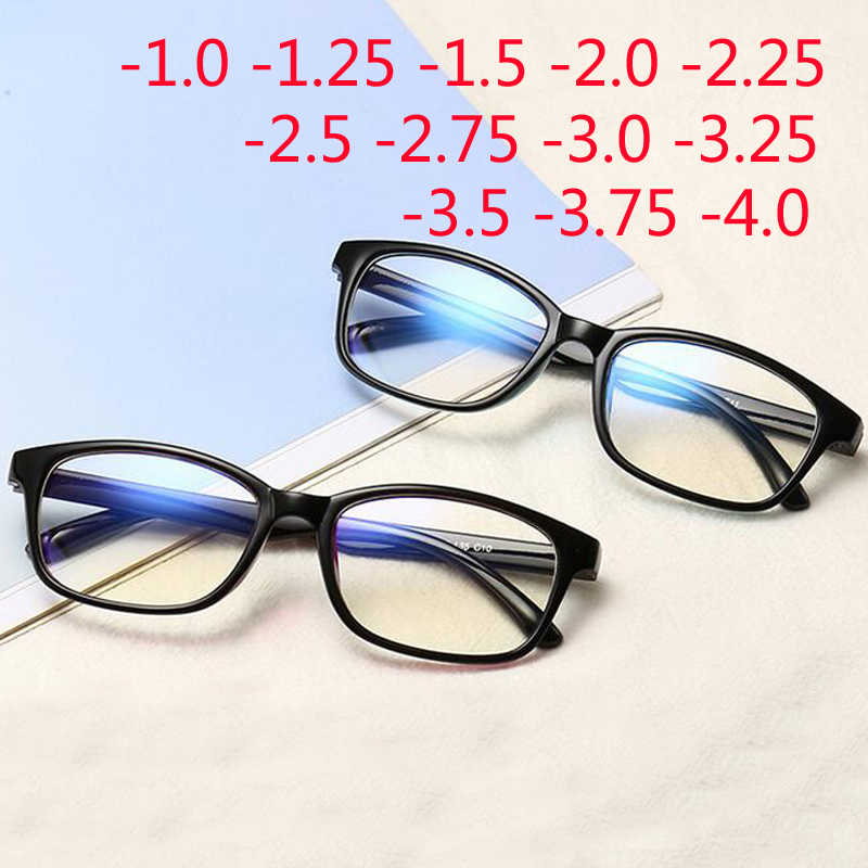 Red Frame Eyewear Myopia-Glasses Short-Sight Women Blue Black Frame-1.0-1.25-1.50-1.75-2.0-2.5-3.0to-4.0