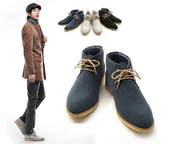 New Spring Style Fashion Boots Men Business Casual Shoes Leather Men 39 S Shoes Snow Boots Three