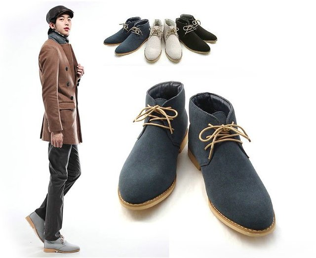 new spring style fashion boots men business casual shoes