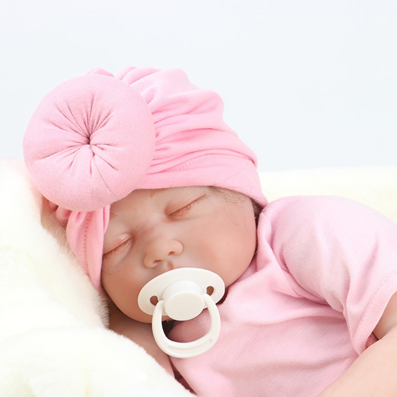 Fashion Newborn Baby Girl Soft Cute Indian Turban Knot Rabbit Hospital Hat Gift