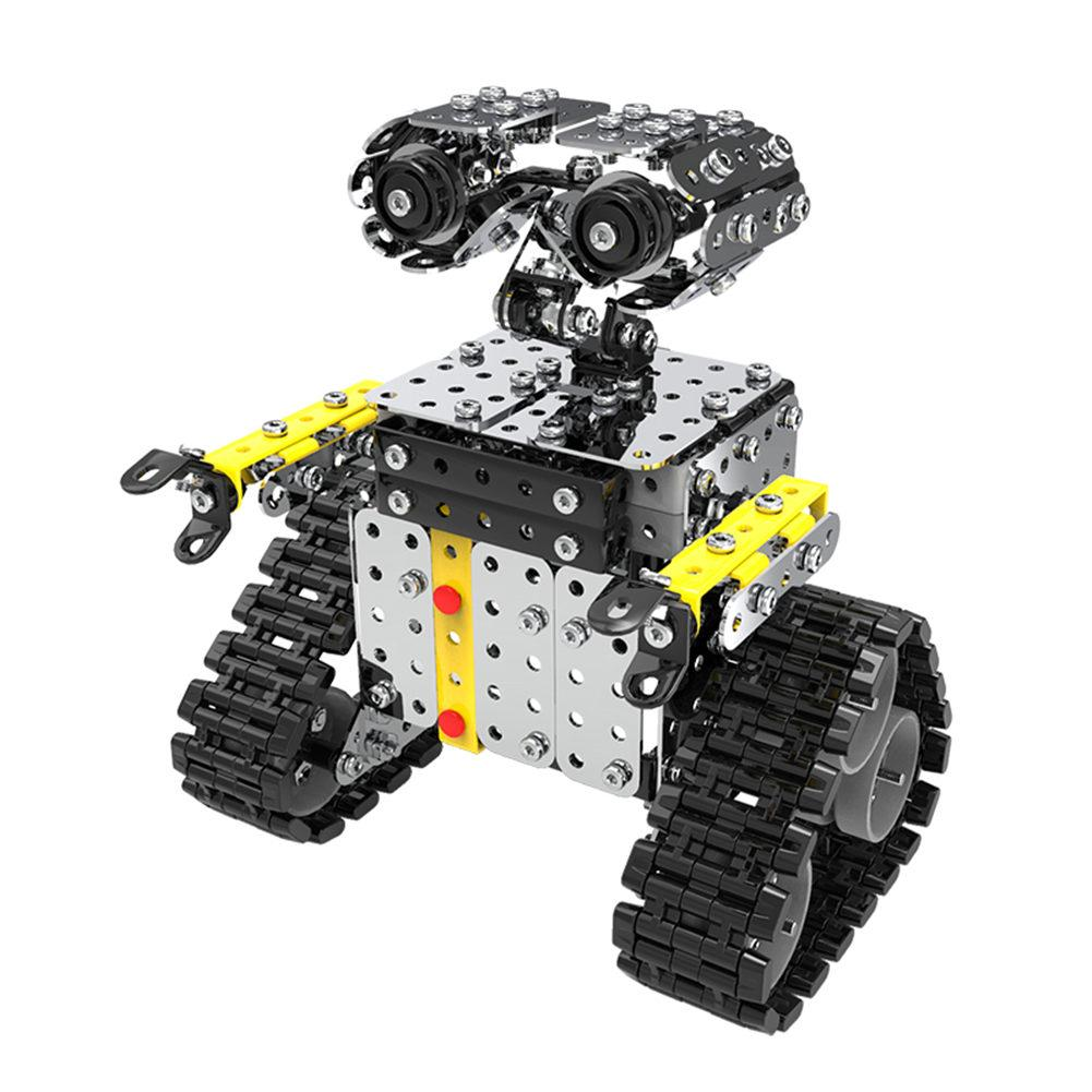 Wall-e Robot Assembling Toy Stainless Steel Model Tile Robot Sliding Block Building Mounted Robot Toy for Children Boy Gifts