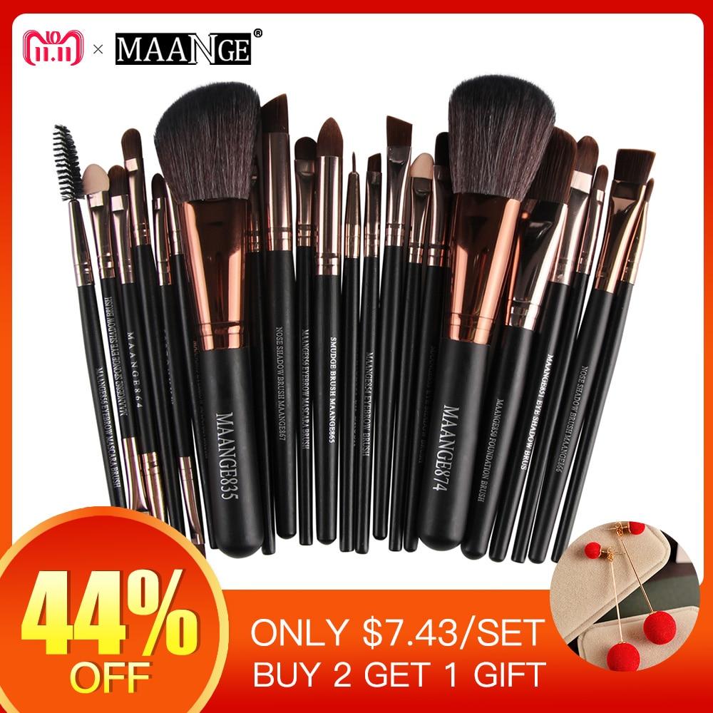 New Pro 22 pcs Cosméticos Makeup Brushes Set Fundação Blush Em Pó Sombra Delineador Lip Make up Escova Ferramentas de Beleza Maquiagem