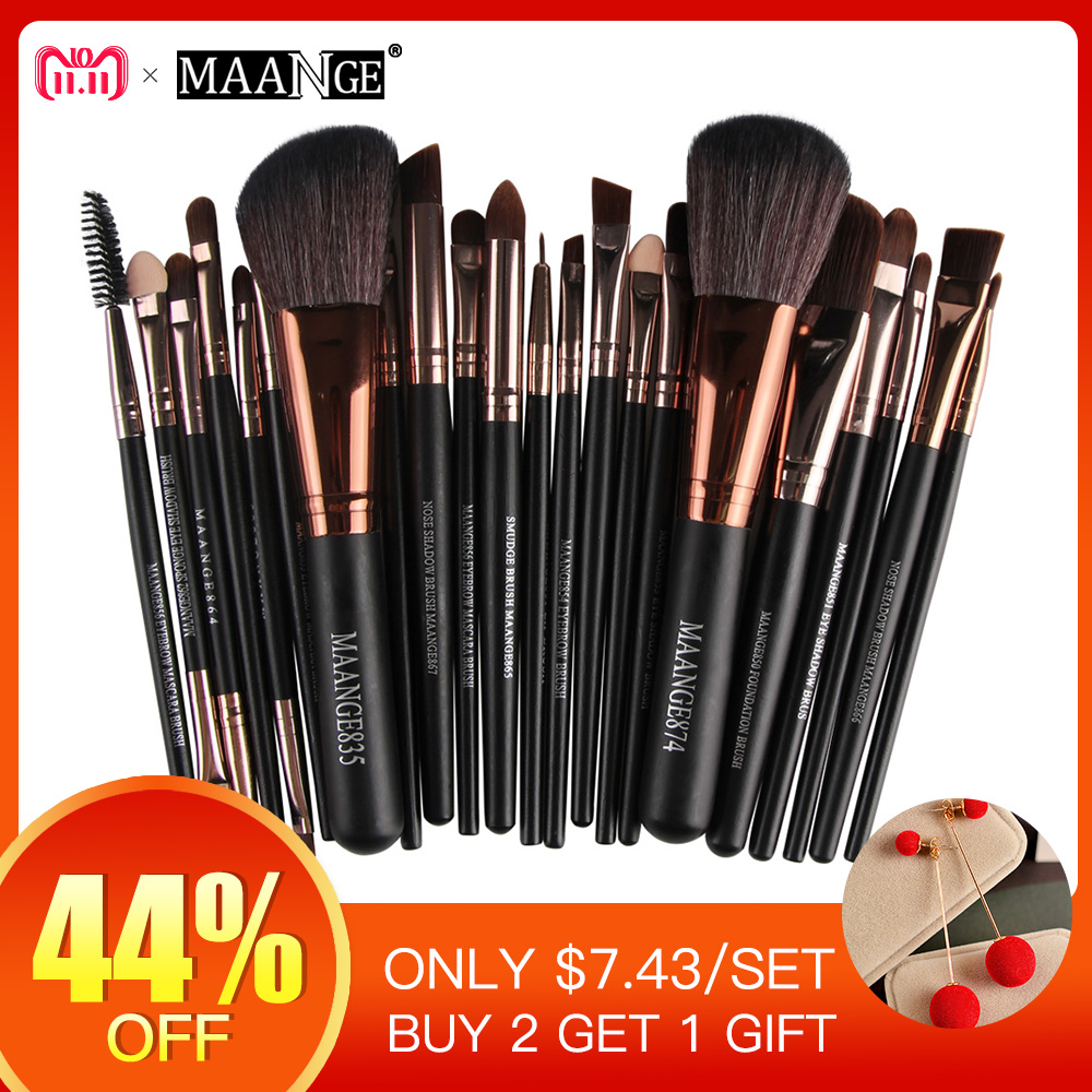 New Pro 22Pcs Cosmetic Makeup Brushes Set Blush Powder Foundation Eyeshadow Eyeliner Lip Make up Brush Beauty Tools Maquiagem стоимость