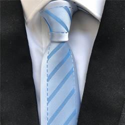 Новые дизайнерские Для мужчин скинни Slim Tie моды ежедневный галстук синий границы с галстуки в полоску