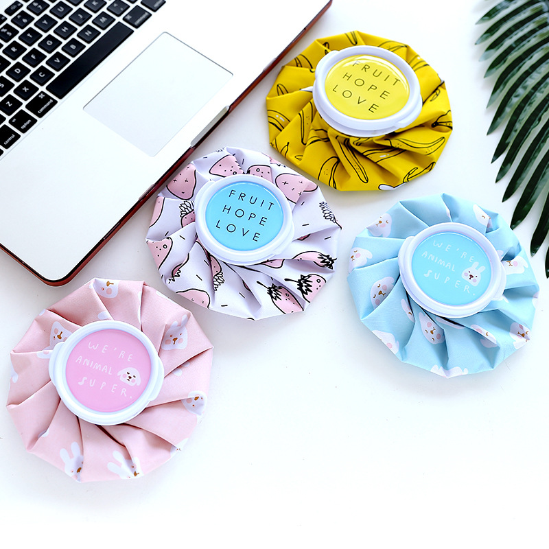 1pc Summer Cartoon Reusable Ice Cooling Relief Pain Leg Muscle Injury Ice Bag Hot Water Bottle Knee Head Relief Pain Ice Bag