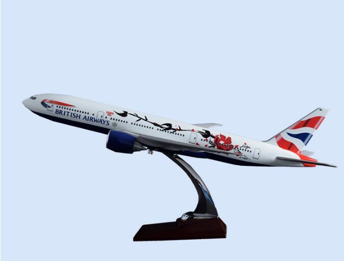 47 cm résine A320 Air Asia modèle d'avion compagnies aériennes asiatiques grand British Airways Boeing 777 angleterre avion avion cadeau jouet