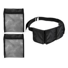 Scuba Dive 4-Pocket Weight Belt + 2pcs Empty Mesh Shot Bag 2KG 20 X 17.5cm