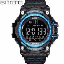 2018 GIMTO Digital Smart Watch Men Waterproof LED Diving Sport Watch Pedometer Smartwatch Army Shock Electronic