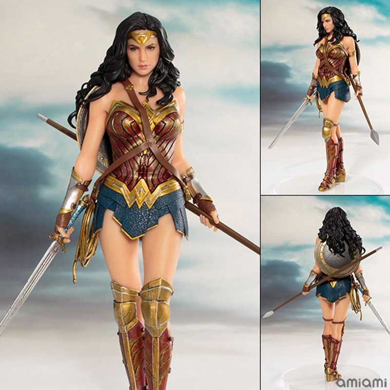 19cm DC justice League ARTFX + Wonder Woman Statue Collection Model Action Figure Toys batman figure justice league artfx statue x men weapon x iron man bruce wayne action figure model collection toy