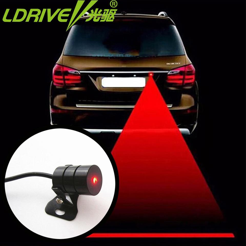 LDRIVE Feu Arrière Voiture Laser Brouillard Lumière Auto Arrière - Feux de voiture