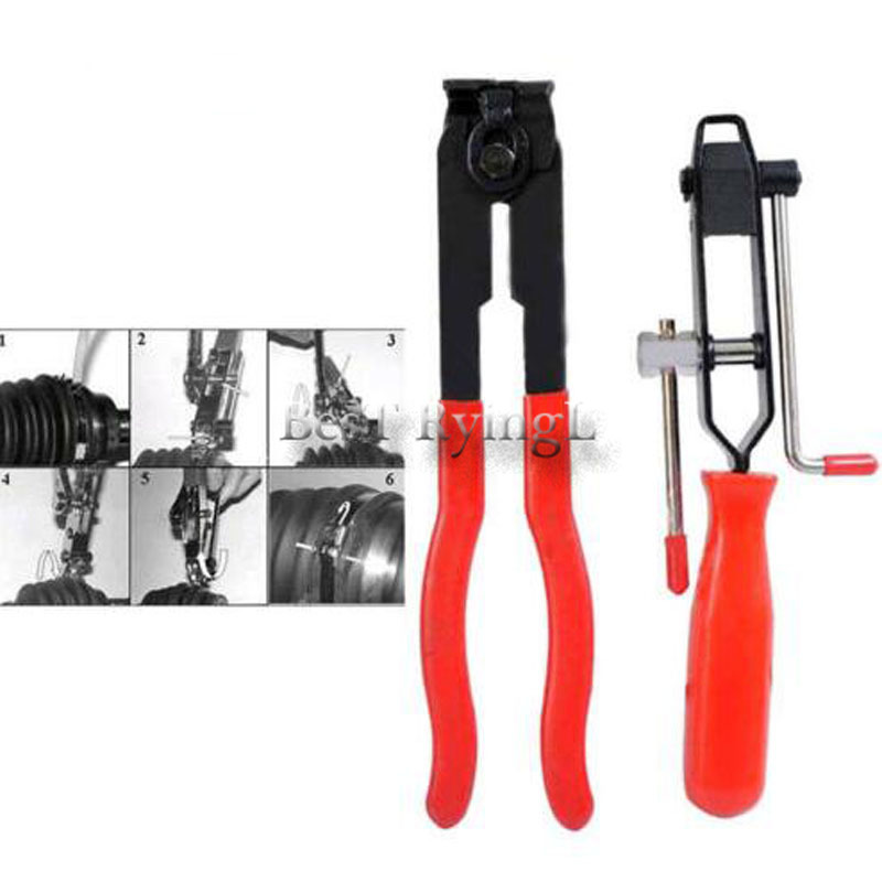 2pcs CV Joint Boot Clamp Pliers Ear-type Clips Car Banding Install Kit Set Car Repair Hand Tool Set