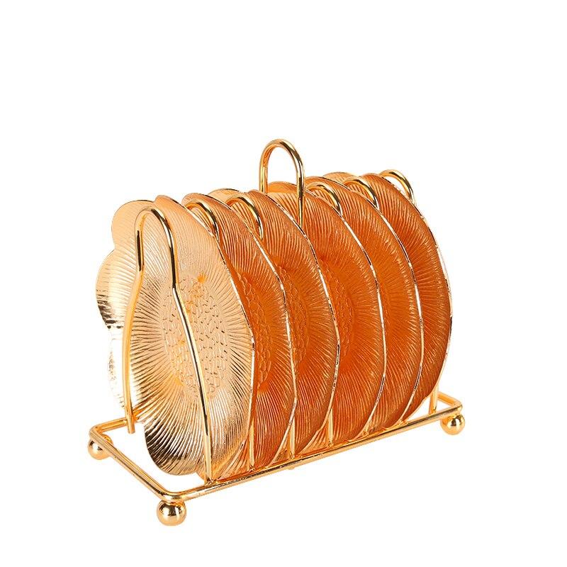 Mini plat à Snacks avec support 6 pièces | Plateau à gâteaux argentés assiette à pâtisserie, plateau à snack de style occidental, articles d'ameublement de maison