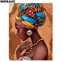 5D Full Square/Round Diamond painting fantasy African womenmosaic Embroidery rhinestones Portrait diamond pictures