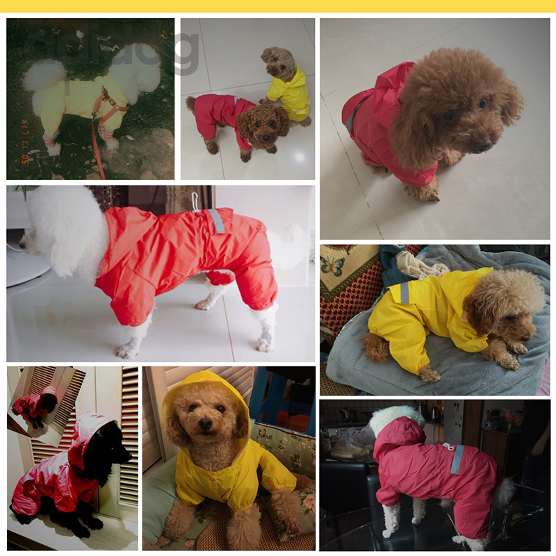 Собака плащ Водонепроницаемый с капюшоном Одежда для собак дождевик плащ Камуфляж для маленький большой щенок Pet дождливый XS XXL с капюшоном ...