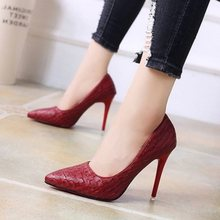 Single women's high heels pointed 2019 spring new high heels female students fashion sexy fine with 10 cm work shoes(China)