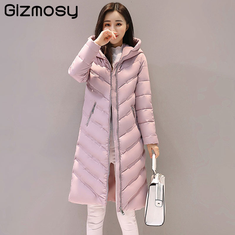 1PC Winter Jacket Women Cotton Padded Long Hooded Parkas Women Winter Coat Jaqueta Feminina Casacos De Inverno Feminino SY1598 qazxsw 2017 new winter cotton coat women padded jacket hooded long parkas for girl thick warm winter coat jaqueta feminina hb274