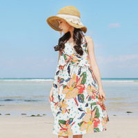 New Summer Bohemian Girls Dress Sundress Floral Sling Dress For Girl Vestido Infantil Girls Beach Tunic