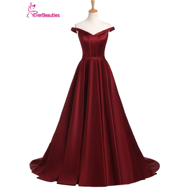 Vestidos de graduacion color rojo vino