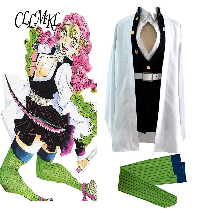 Anime Demon Slayer Kimetsu No Yaiba Kanroji Mitsuri Cosplay Costume Uniform With Socks Aliexpress Pls email us if you need the costume, wig, shoes, weapon or other accessories of this character. anime demon slayer kimetsu no yaiba