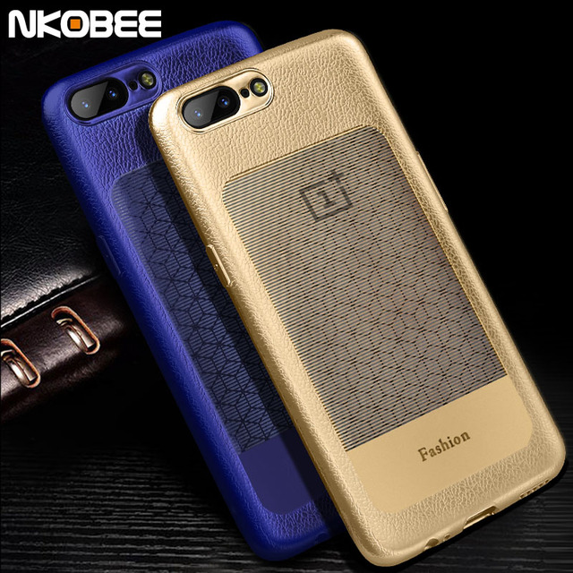 best authentic c6ab3 7ec92 US $4.49 |NKOBEE Oneplus 5 Case Leather Luxury Phone Case For Oneplus 5  Cover TPU Soft Ultra Thin One Plus 5 Case Back Cover Accessories-in Fitted  ...