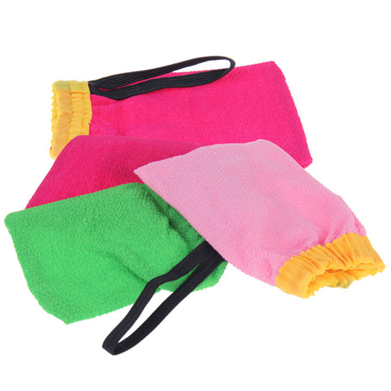 Exfoliating Tan Removal Mitt Random Color Korea Hammam Scrub Mitt Magic Peeling Glove Free Shipping