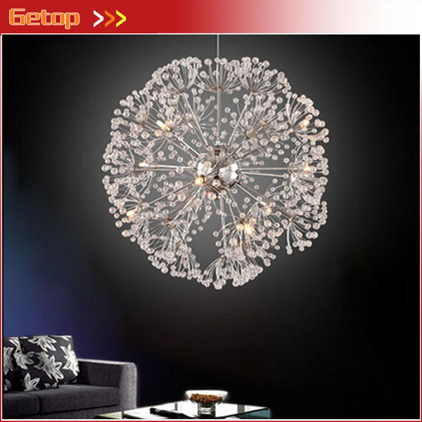 Best Price Creative Luxury Crystal Chandelier Living Room Dandelion flowers spheroidal LED Crystal Lamp Remote Control best price 5pin cable for outdoor printer