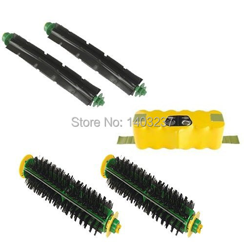 Vacuum Cleaner Accessory Kit For iRobot Roomba 500 Series Accessory Kit - Includes: Battery Beater Brush Bristle Brush for irobot roomba 580 vacuum cleaner accessory kit for roomba 500 551 536 kit includes 3500mah battery side brush filter