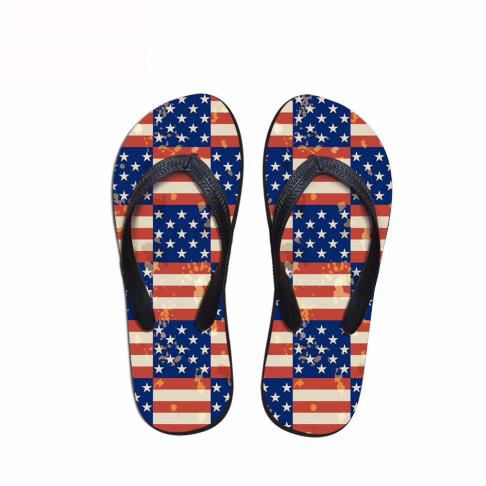 Noisydesigns Men's flip-flops boys sandals male star stripe national - Men's Shoes - Photo 2
