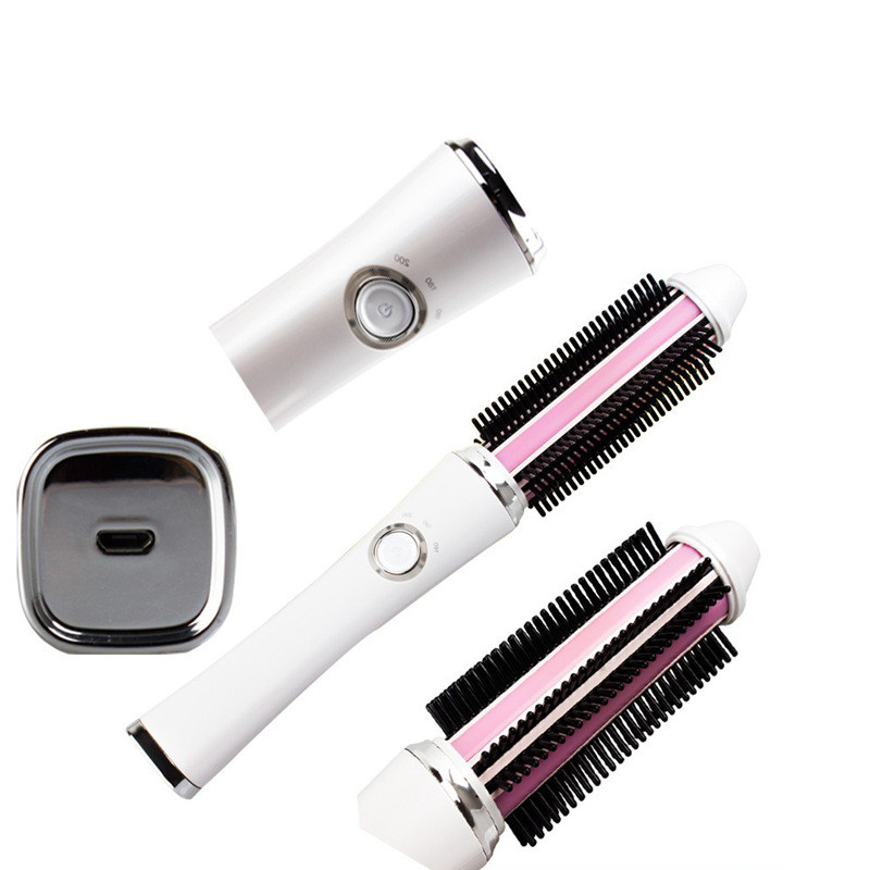 Straightening Irons USB charge Straight hair Brush Comb Rechargeable Hair Curler Styling Tools wireless Multifunctional Comb