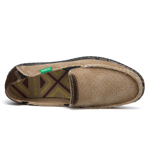 Image 3 - Sommer Casual Slip Auf Atmungsaktive Männer Leinwand Schuhe Espadrille Alpargatas Hombre Denim Deck Schuhe Mokassin Homme Herren Slip ons