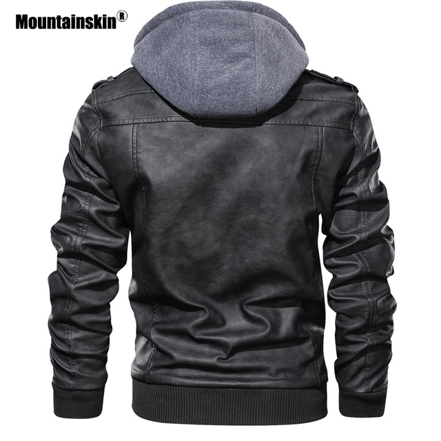 Mountainskin New Men's Leather Jackets Autumn Casual Motorcycle PU Jacket Biker Leather Coats Brand Clothing EU Size SA722 6