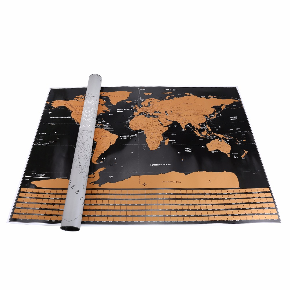 b8bc4574cb Simply grab a coin and start scratching off the foil layer to reveal a  whole new exciting world below creating your own personalized world map.