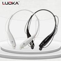 Hot LUOKA 730 Wireless Bluetooth Headset Sports Bluetooth Earphones Headphone With Mic Bass Earphone For Samsung