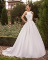 Dreagel Hot Sale High Quality Satin A-line Wedding Dress 2017 Delicate Lace Applique Sashes Bride Gown Robe de Mariage Plus Size