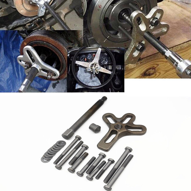 Details about Steering Wheel Puller Removal Car Tools Crankshaft Gear  Pulley Repair Kit