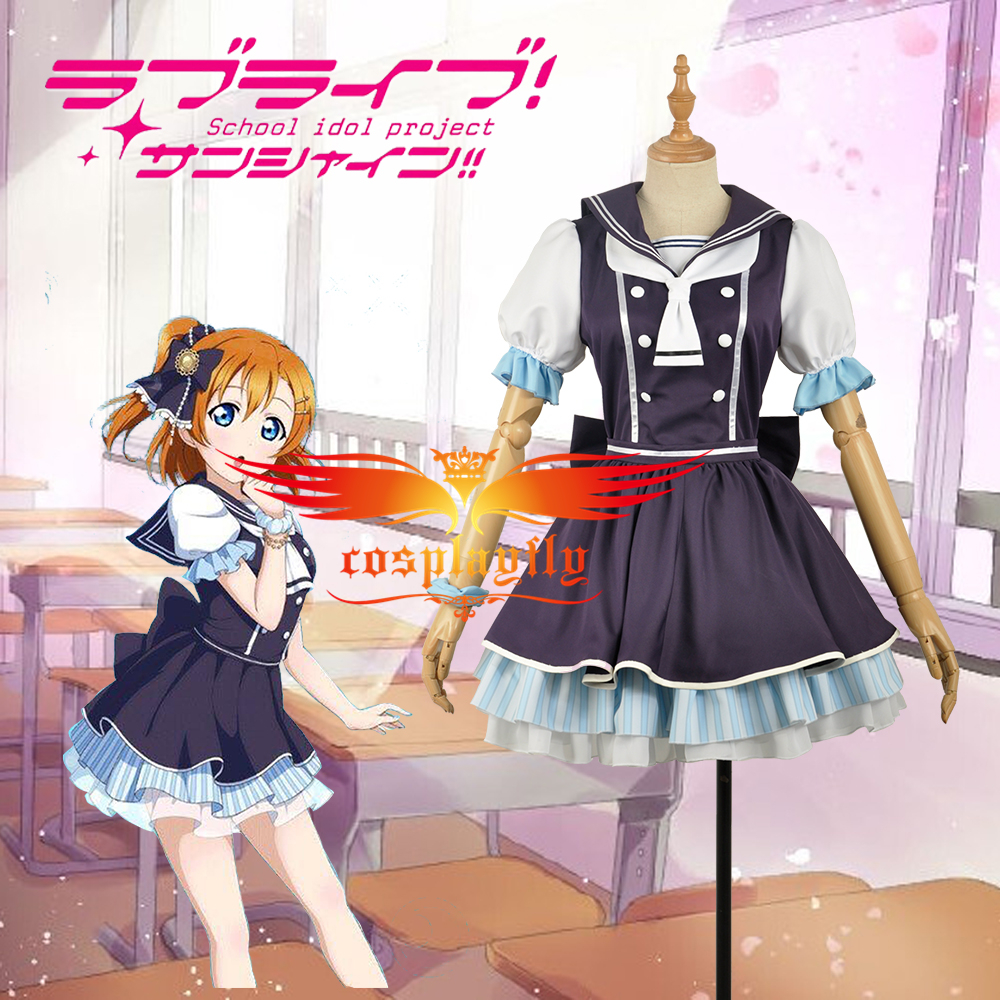 Love Live! Kousaka Honoka Pirate Unawakened School Uniform Dress Cosplay Costume Adult Women Outfit Clothing Dress For Cos W1255