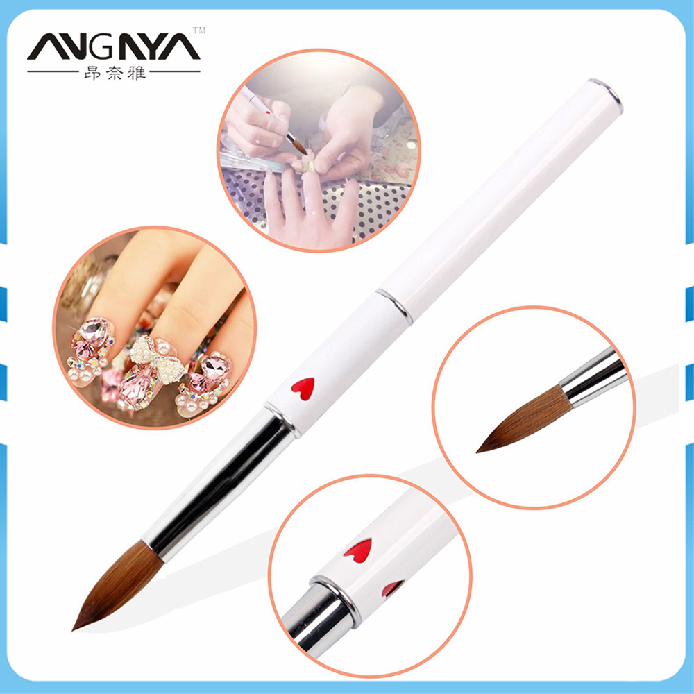 ANGNYA 1Pcs Kolinsky Sable Acrylic Nail Art Brush Size 16