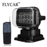 FLYCAR 12 В 24 вращающийся пульт дистанционного управления Светодиодный прожектор аварийная конструкция Рабочая лампа для лодки внедорожный ав