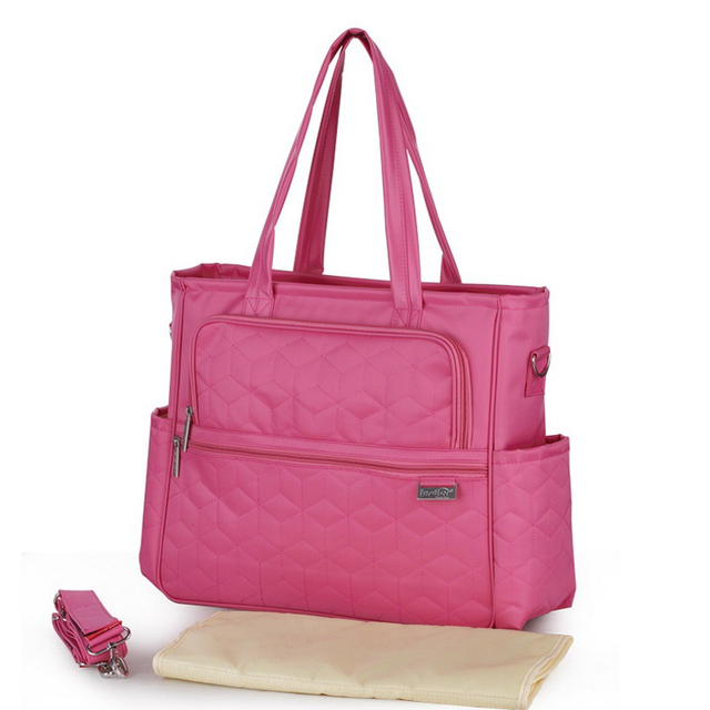 High quality plaid multifunctional women messenger bags waterproof maternity tote nappy bags  for baby outdoor nappy Changing