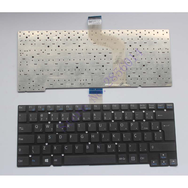 Brazil For Sony Vaio T13 SVT13 SVT 13 T14 SVT14 SVT 14 BR Laptop Keyboard Black No Frame